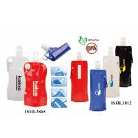 China Customrized promotional foldable water bottle printed logo inceacing brand name wholesale