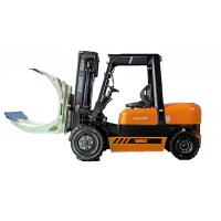 China Heavy Duty Diesel Powered Forklift / Four Wheel Drive Forklift Battery Green Power wholesale