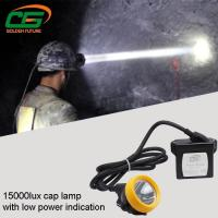 China Safety 1w Led Mining Cap Lamp Rechargeable 15000lux High Brightness wholesale
