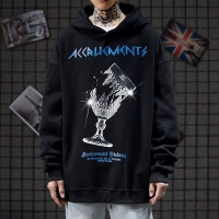 China OBM Tide Brand Ins Abstinence Men Cool Hoodies 170-280GMS Minimalist wholesale