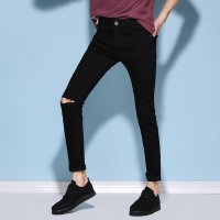 China Breathable Mid Waist Men Pants Mens Skinny Jeans With Zippers wholesale