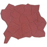 China Eco Friendly Red Playground Rubber Mats For Outside Play Areas wholesale
