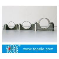 China BS4568 / BS31 Steel Conduit Fittings Carbon Steel Spacer Bar Saddle With Base wholesale