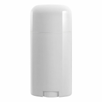 China Custom Design White Twist-up Oval Shape Empty Plastic Deodorant Containers wholesale