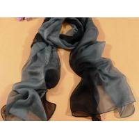 China 2013 new fashion black and grey gradient color Hand Painted Silk Scarf/ chiffon scarves shawls wholesale