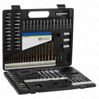 China 101pcs Metal Case Packaging Drill Bit Set with Masonry Drill Bit and SCREWDRIVER BITS wholesale