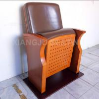 China Wooden Small Leather Lecture Hall Seating Folded Chairs For Conference Room wholesale