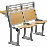China High Back Aluminum Alloy Structure Foldable Writing Table Pad With Plywood Seat wholesale