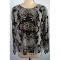 China Women Leopard Cashmere Sweater , Long Sleeve Pullover Sweater 12 Gauge on sale