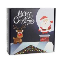 Christmas Gift Folding Boxes Corrugated Paper Top Sheet White Back Paper