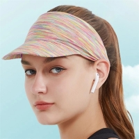 China Pre Curved 56cm Summer Sun Visor Cap For Shading wholesale