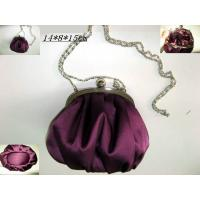 Buy cheap 2012 Popular elegant purple satin coin purse, ladies cluth bag G20419 from wholesalers