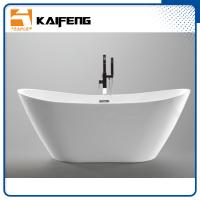 China 1800mm Long Oval Freestanding Tub With Pop - Up Drain Customized Color wholesale