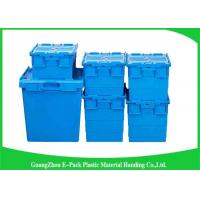 China Nestable Plastic Attached Lid Containers ,  Industrial Storage Turnover Crate wholesale