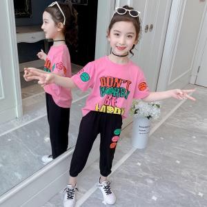 China 110CM 160CM Autumn Fashion Kids Girls Clothes Set Sweet Style wholesale