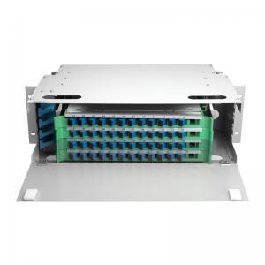 China Outdoor 48 Port ODF Optical Distribution Frame IP66 Mild Steel Fiber Optic Patch Panel wholesale