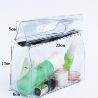 Quality Transparent Travel Kit Makeup Organizer Pouch with Punching Holes Handles for sale
