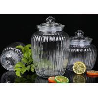 Buy cheap 1350ml Capacity Glass Jam Jar With Lid / Durable Glass Jar For Spicy Beans from wholesalers