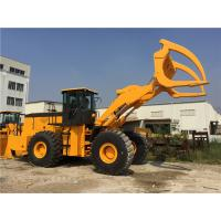 Buy cheap 18 Ton Big Front End Loader Grapple , Yelllow Forestry Loader For Timber Mill from wholesalers
