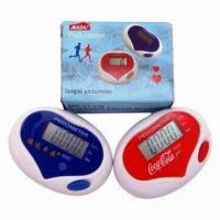 Buy cheap Multifunctional Heart-shaped Pedometers, auto power-off function from wholesalers