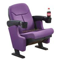 China Fancy Purple Middle Back VIP Cinema Seating With Cup Holder / Home Theater Chair wholesale