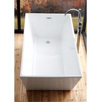 China Reinforced 5 Foot Soaker Tub , Corner Freestanding Tub With Faucet Holes wholesale