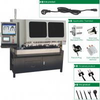 Buy cheap Automatic Crimping One Line Machine For Power Cable Making 3 pins Plug Cutting from wholesalers