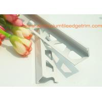 China White Right Angle Metal Tile Trim 10mm For Tile Edging Protection wholesale