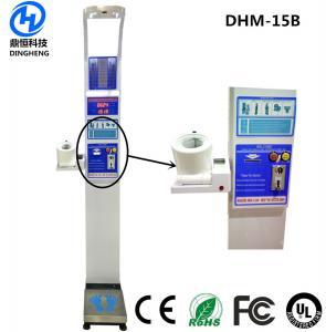 China Electronic BMI Body Fat Calculator Machine , Ultrasonic Health Scale Height Weight wholesale