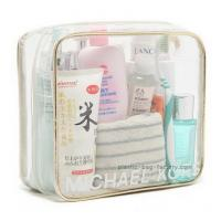 China Eco Friendly Plastic Makeup Bag , Clear PVC Makeup Organizer Bag OEM Accepted wholesale