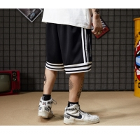 China Niche Trend Striped Men Streetwear Shorts Breathable Spandex Basketball Pants wholesale