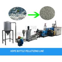 China Milk Bottle Flakes Water Cutting Waste Plastic Recycling Pelletizing Machine Granulator Line wholesale