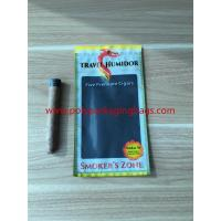 Buy cheap Re - Sealable Zipper Moisturizing Cigar Humidor Bags With Printed Logo from wholesalers