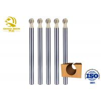 China 2 Flutes Carbide Ball End Mill Tungsten Tapered Ball Nose End Mill Wear Resistance wholesale