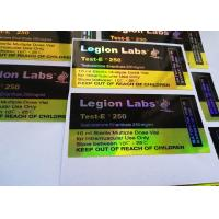 Buy cheap Gold Shine Hologram Label For 10ml Vial Labels With Custom Design from wholesalers