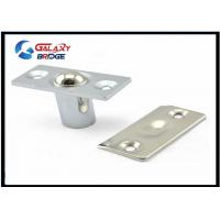 China Stainless Steel Glass Door Stopper , Brushed Satin Nickel Hydraulic Magnetic Door Catch wholesale
