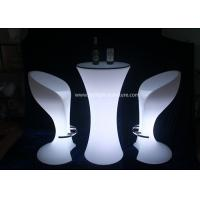 China Colors Changing LED Light Furniture , Remote Control LED Bar Stools And Tables wholesale