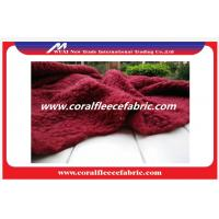 China Red / Green Polyester Fade Lambswool Faux / Fade Fur Fabric for Blanket or Home Beddings wholesale
