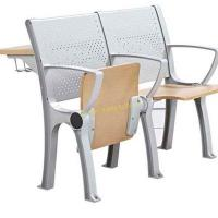 China Plywood Metal University College Classroom Furniture / Foldable School Desk And Chair Set wholesale