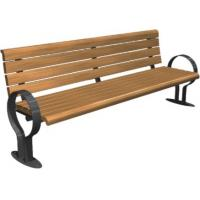 China Reasonable Design  Public Park Benches with different length, wood and metal material wholesale