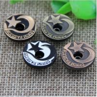 China Custom hot sale gold color five-pointed star alloy 17 mm denim snap button for clothing on sale