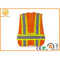 Buy cheap Fluorescent Orange Reflective Safety Hi Vis Mesh Vests for Warning Protection from wholesalers