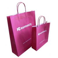 China Clothing Red Kraft Paper Shopping Bags China Wholesale Price on sale