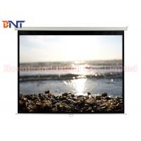 Buy cheap Smoothly High Quality PVC Fabric Auto-locking Manual Projector Screen 100 Inch 4:3 Format from wholesalers