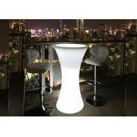 China High Round Cocktail Table Furniture Set with Colorful  Lighting wholesale