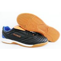China Black Men Customized Indoor Soccer Shoes For Indoor Competition on sale