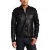 China customized S M L XL softshell winter polar Fleece Lined Leather padded Jacket wholesale