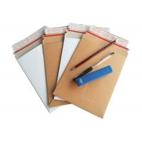 Quality Brown Rigid Cardboard Envelopes No Plastic Customized Size With Easy Tear Strip for sale