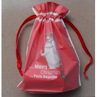 China Recyclable drawstring plastic  Cotton Ropes  bags/Women and children all like the New Year red gift bag wholesale