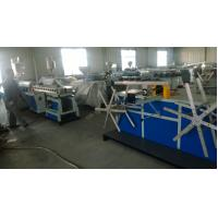 China PA Electric Threading Plastic Pipe Machine , Pvc Pipe Extrusion Line Long Life wholesale